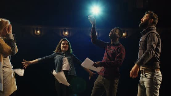 Thumbnail for Actors Celebrating on Stage