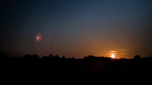 Verlassen des Sonnenuntergangs