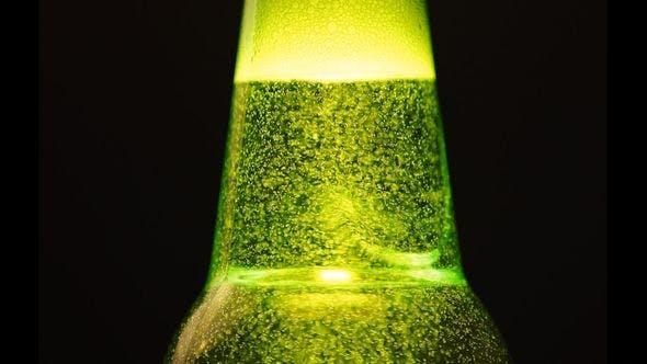 Thumbnail for A Green Bottle Neck With A Lot Of Bubbles