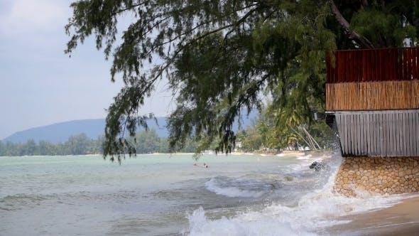Thumbnail for Sea Waves On The Tropical Beach.