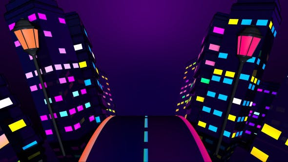 Thumbnail for City Night Colorful