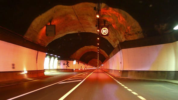 Thumbnail for Highway Red Tunnel Rage Camera Car at High Speed