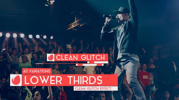 Thumbnail for Clean Glitch - Lower Third