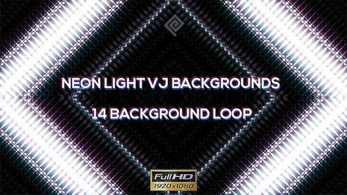 Neon Fashion Lights VJ Backgrounds - 14 Pack