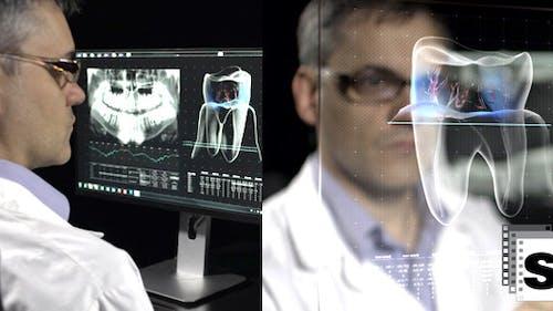 Dentist Analyzing Xray
