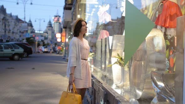 Thumbnail for Girl Busy in Window Shopping