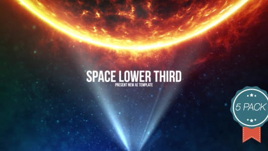 Thumbnail for Space Light Lower Third V4 (5 Pack)