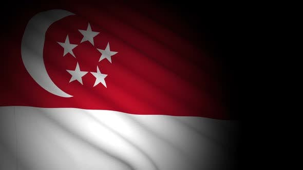 Thumbnail for Singapore Flag Blowing in Wind