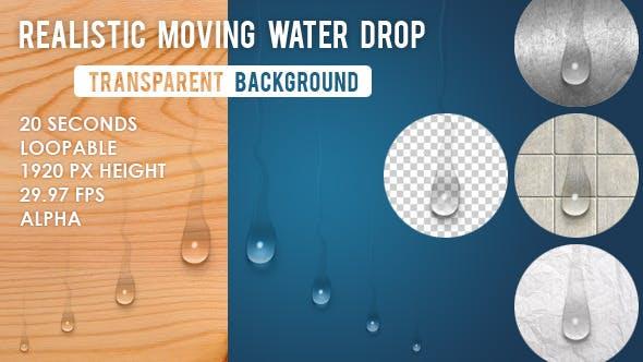 Beweglicher Wassertropfen