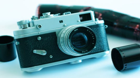 Thumbnail for Old Camera On A White Background 2