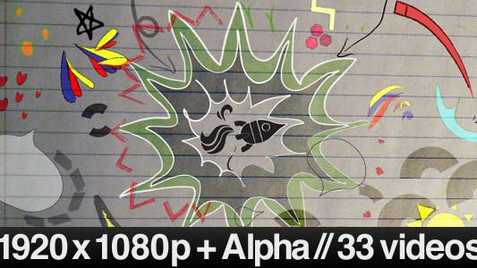 33 Videos von Schulpapier & Bleistiftzeichnungen Alive