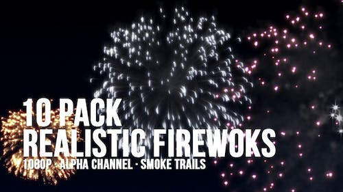 Realistic Fireworks 10 Pack