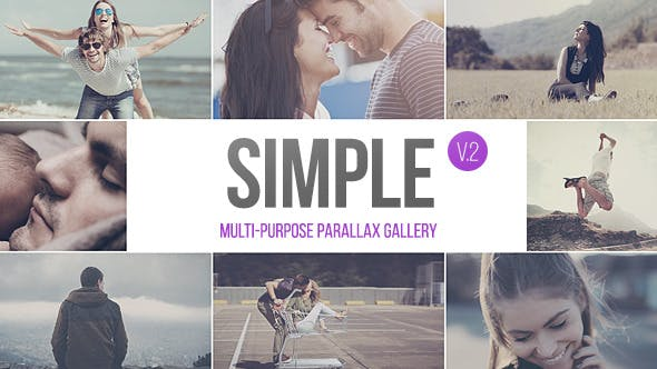 Thumbnail for SIMPLE v.2 - Parallax Photo Gallery | 2.5k