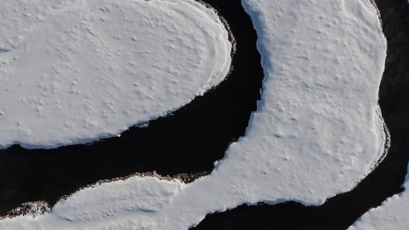 Thumbnail for Aerial Winding River Winter