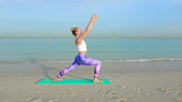 Thumbnail for Woman Training on the Beach.