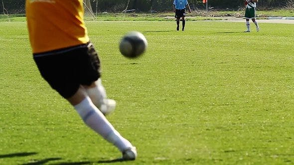 Thumbnail for Goalkeeper Kicks The Ball From The Gate