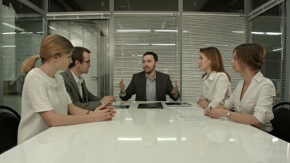 Thumbnail for Business People Having Board Meeting In Modern