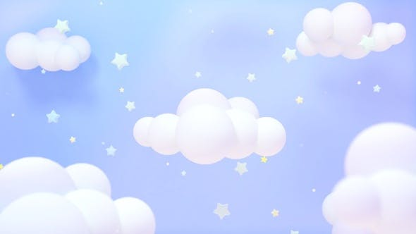 Thumbnail for Soft Pastel Blue Starry Sky
