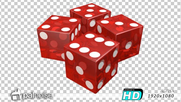 Thumbnail for Dice Roll Red Casino Transparent