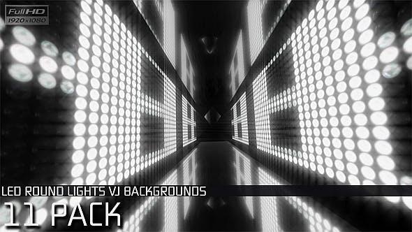 VJ Loops Round Lights #1 - 11 Pack