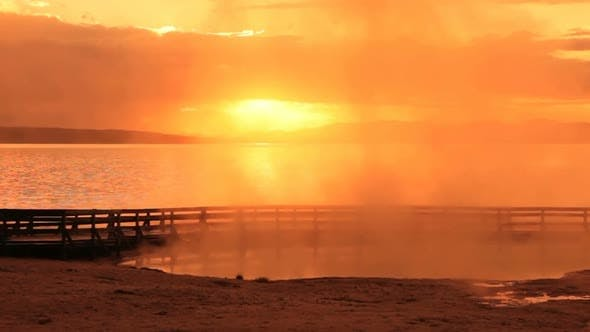 Thumbnail for Sunrise Over Yellowstone Lake