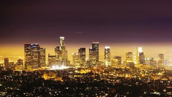 Thumbnail for Los Angeles At Night, Time Lapse
