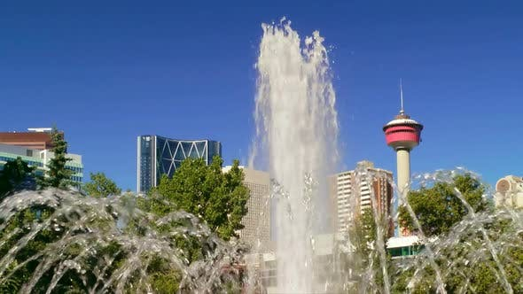 Thumbnail for Fountain And Calgary Tower