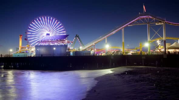 Thumbnail for Santa Monica Pier, Time Lapse
