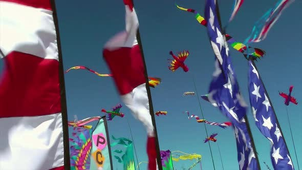 Thumbnail for Kites And Banners Blowing In The Wind 1