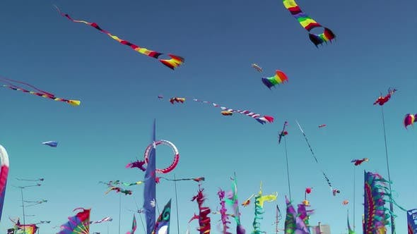 Thumbnail for Kites And Banners Blowing In The Wind 2