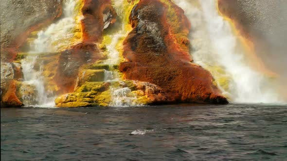 Thumbnail for Overflow From Excelsior Geyser Runs Into The Yellowstone River 1