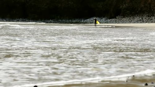 Surfer On The Coast