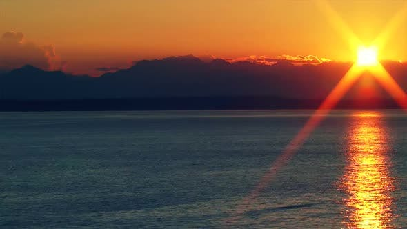 Thumbnail for Sunset Over The Puget Sound, Time Lapse