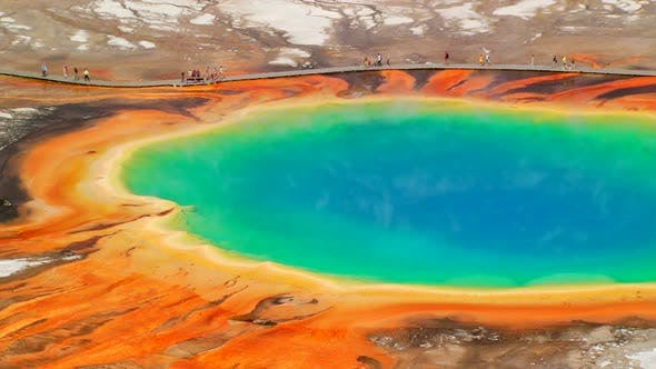 Thumbnail for Grand Prismatic Spring in Yellowstone National Park