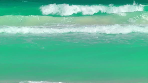 Thumbnail for Waves Rolling In On A Tropical Beach