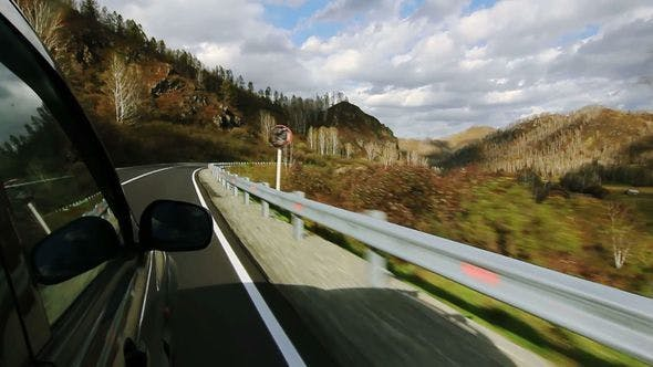 Thumbnail for Driving On A Mountain Road in the Altay