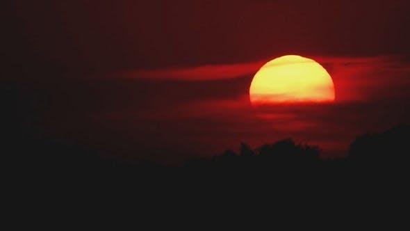 Thumbnail for Große Sonne Sonnenuntergang