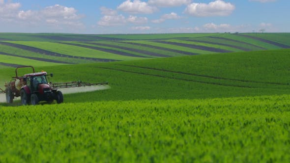 Thumbnail for Agricultural Tractor on the Vast Fields of South Moravia
