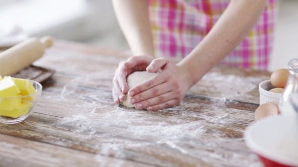 Thumbnail for Female Hands Working With Dough