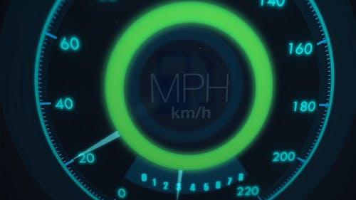 Neon Speedometer