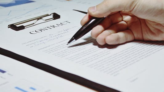 Thumbnail for Businessman Signs a Contract Business
