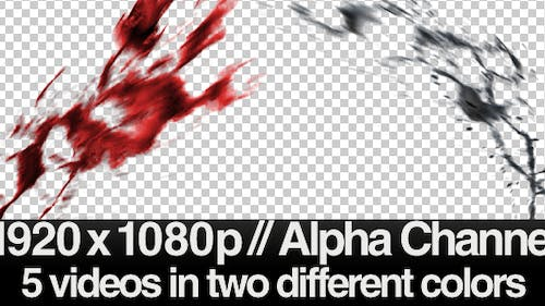 Paint/Liquid/Blood in Air Slow Motion 10 Videos