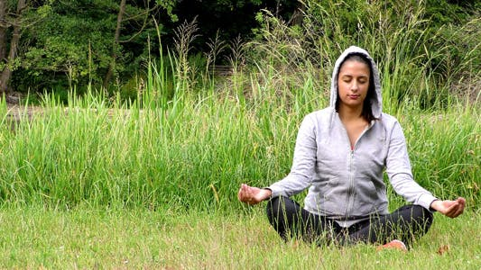 Thumbnail for Young Girl Meditation Spirit Concept in Nature
