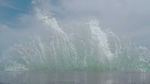 Thumbnail for Waves Breaking on the Breakwater