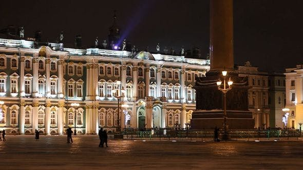 Thumbnail for Hermitage And Alexander Column, St Petersburg