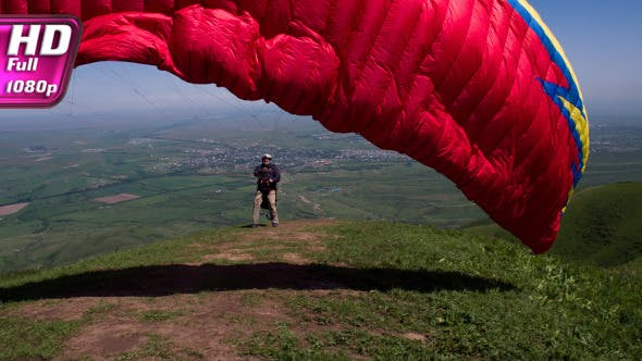 Thumbnail for Paragliders Up into the Air