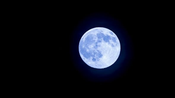 Bright Full Moon In The Clear Sky