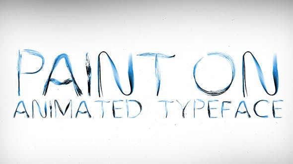 Thumbnail for Paint On Animated Typeface