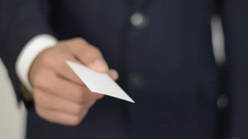 Giving Blank Business Card
