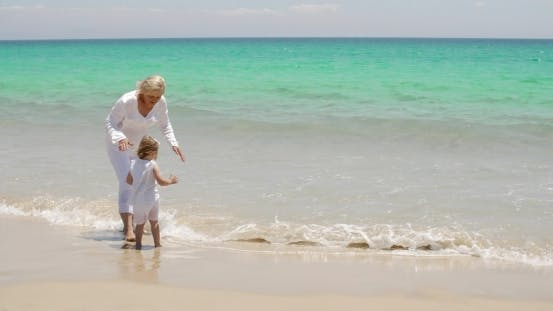 Thumbnail for Grandmother And Granddaughter At The Seaside